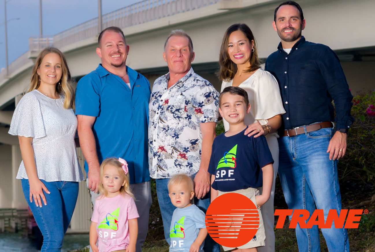 Family with Trane Logo   Service Professionals of Florida - Marco Island Air Conditioning Service